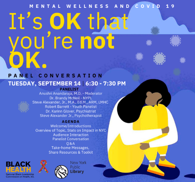 It's OK That You're Not OK: A Panel Conversation on Mental Wellness and COVID-19